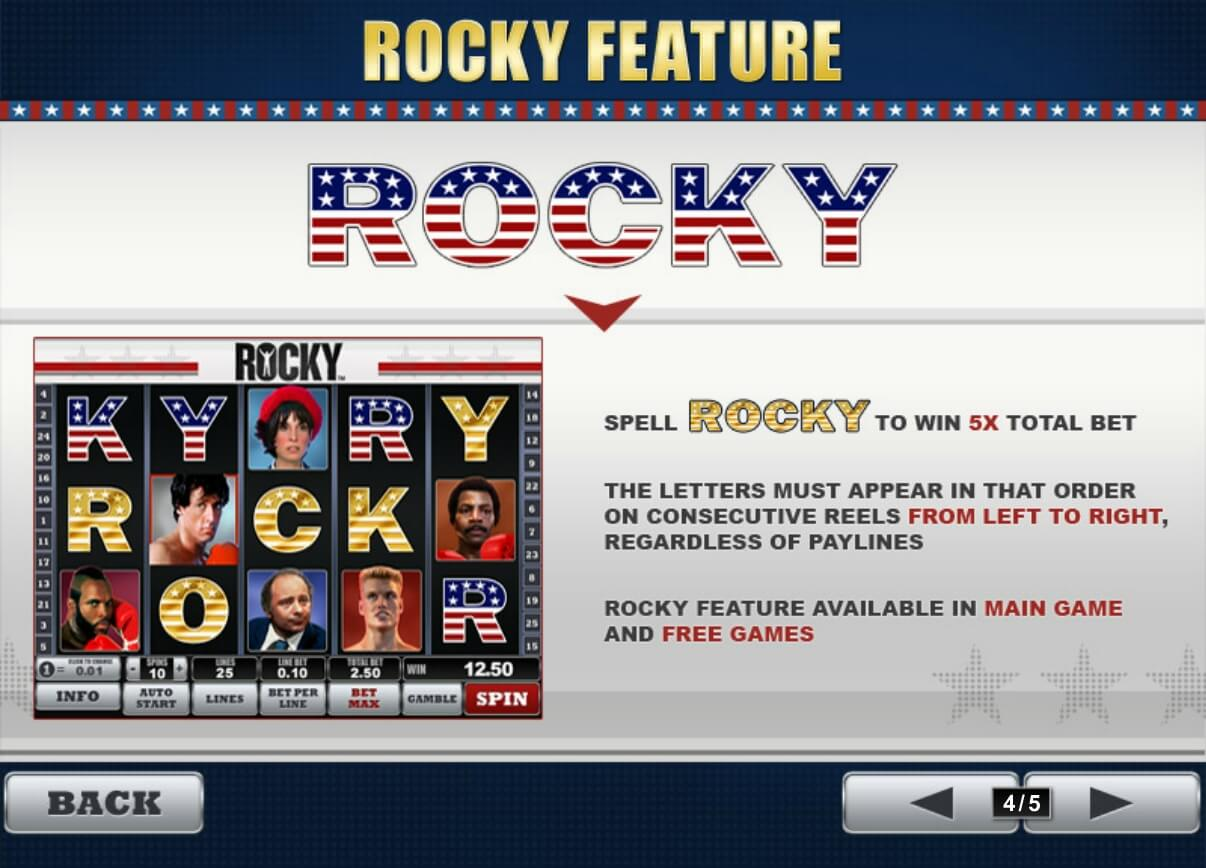 Rocky feature