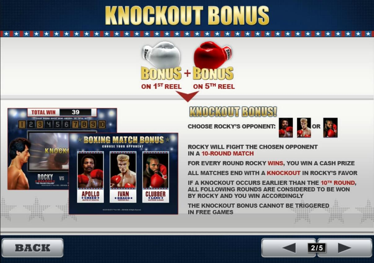 Бонус knockout bonus